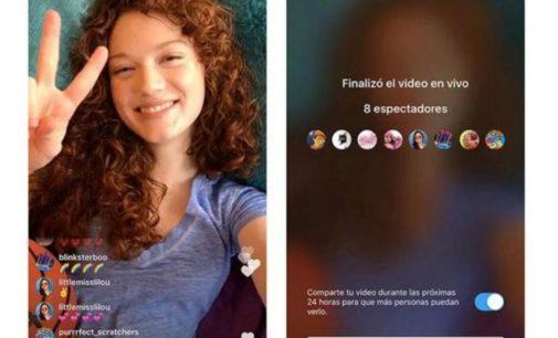 Novedades en Instagram: las transmisiones en vivo se pueden guardar y compartir como historias