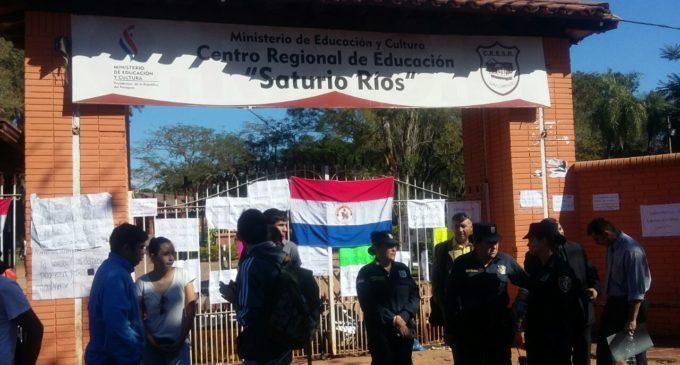 Levantaron toma en el Saturio Ríos