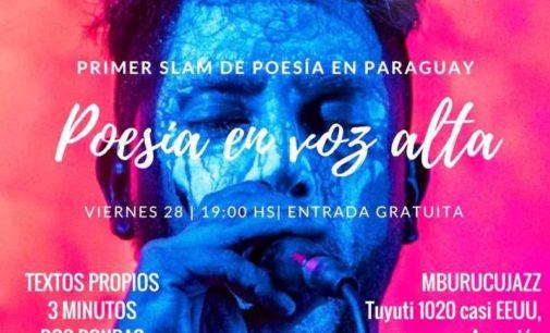 Primer slam de poesía en Paraguay