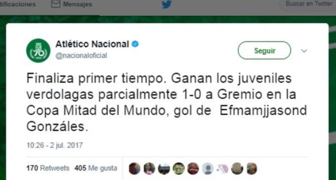 Jugador de Atlético Nacional de Colombia tiene nombre con las iniciales de todos los meses del año
