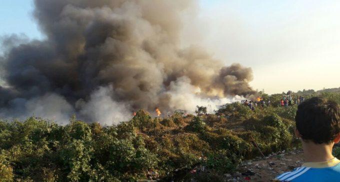 Incendio de gran proporción en el Bañado Sur