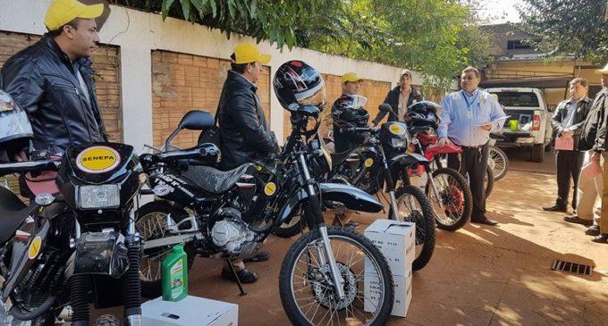 Entregan nuevas motos a seneperos en Amambay