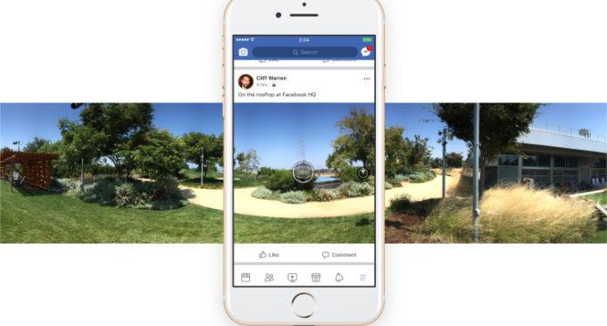 Ahora podrás tomar fotos de 360 grados desde la aplicación de Facebook