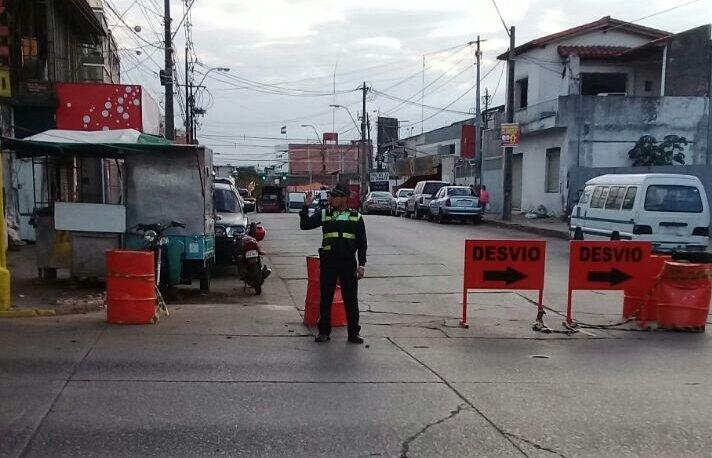 PMT coordina desvíos en zona de marcha campesina y mercado 4