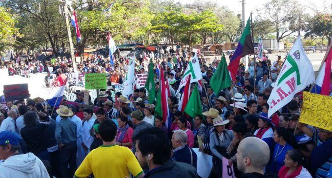 Campesinos se hacen presentes en la Catedral Metropolitana