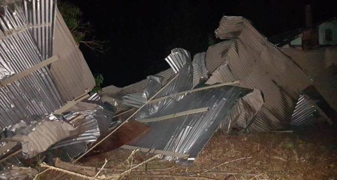 Temporal dejó destrucción y heridos en Boquerón