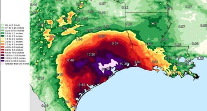 Tormenta Harvey obligó al Servicio Meteorológico de EE.UU. a incluir nuevos colores en mapas de lluvias