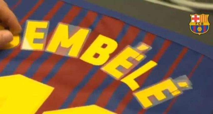Polémica en medio de la dorsal que usará Dembélé en el Barcelona