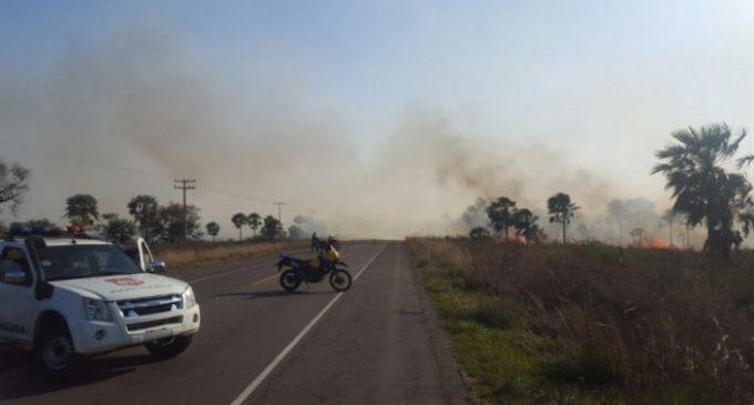 Caminera asegura contar con plan de contingencia ante incendios