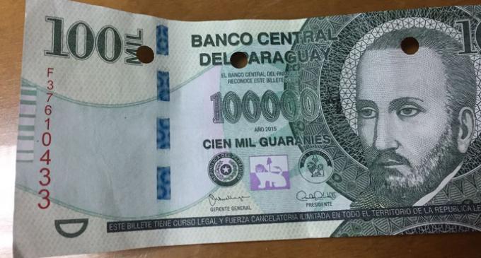 No hay denuncia formal sobre billetes falsos
