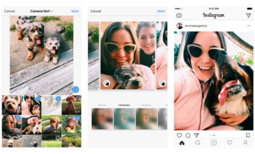 Instagram ya permite crear galerías sin importar como hayas tomado la fotografía