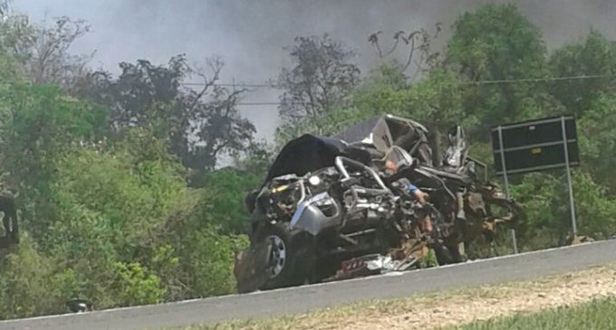 Accidente de intendente de Emboscada: camión habría desviado de carril al momento del choque