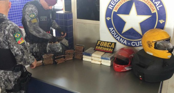 Motociclista intentó cruzar al Brasil con 2.000 proyectiles y casi 10 kilos de cocaína