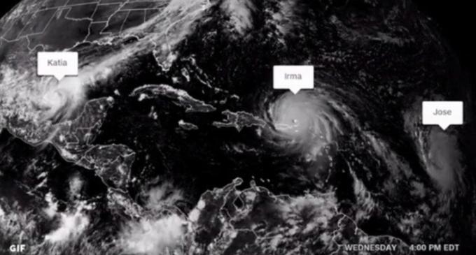Tras 7 años, se producen tres huracanes en el Atlántico: Jose, Katia e Irma se fortalecen