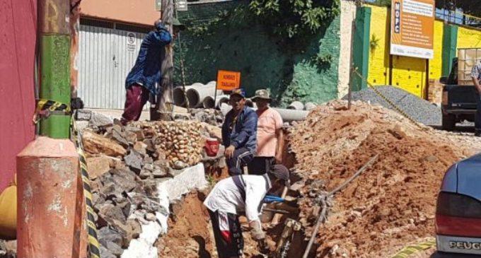 Obras de mejoramiento en barrio San Jerónimo en su etapa final
