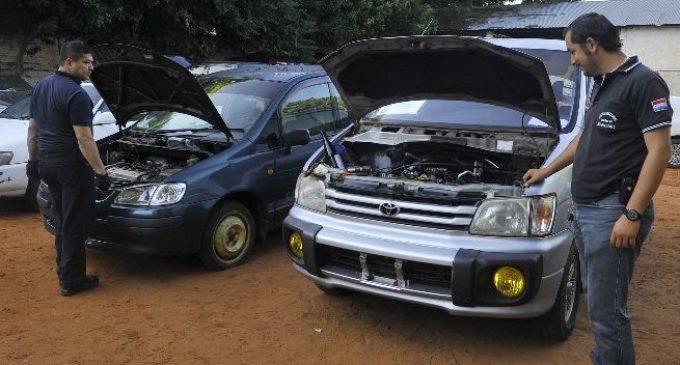 Policía Nacional recupera 13 vehículos robados
