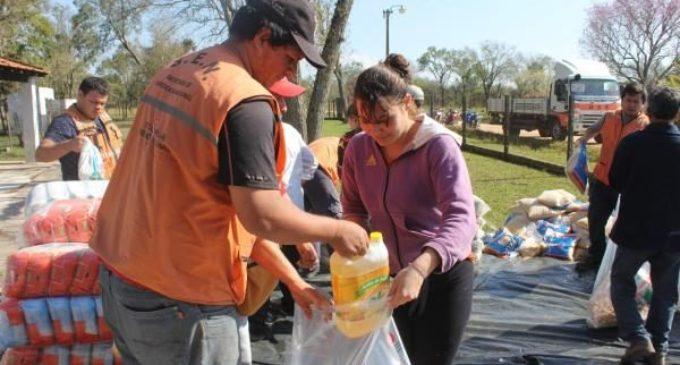 Culminó entrega de alimentos a familias damnificadas