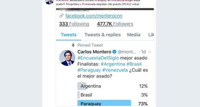 Paraguay ganó por goleada las encuestas de Carlos Montero