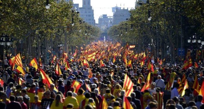 Marchas en Barcelona contra la independencia