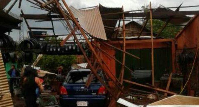 500 familias afectadas por la tormenta en el departamento de Itapúa