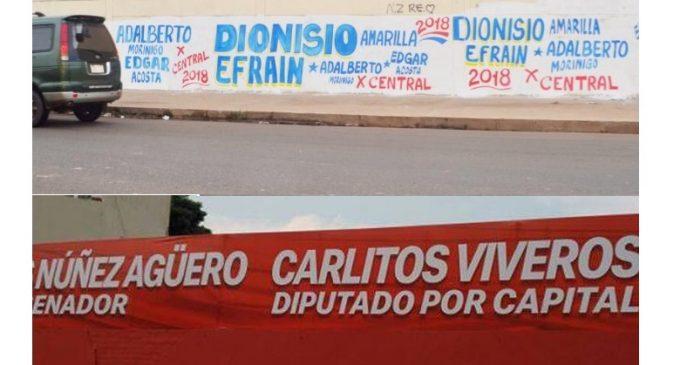 Fiscalía Electoral faculta a Policía Nacional a intervenir cuando personas realicen pintatas políticas