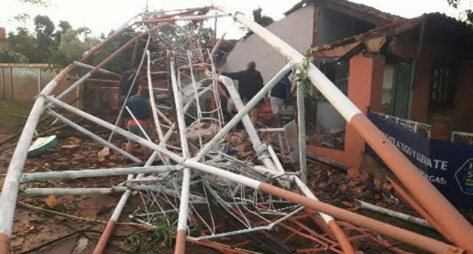 Más de 2.000 viviendas afectadas por temporal en Caaguazú