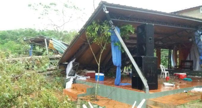 Dos muertos, heridos y cuantiosos daños materiales dejó temporal en Cordillera y Caaguazú