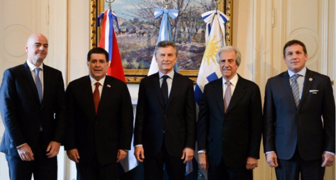 Oficializan candidatura de Paraguay, Argentina y Uruguay para el mundial