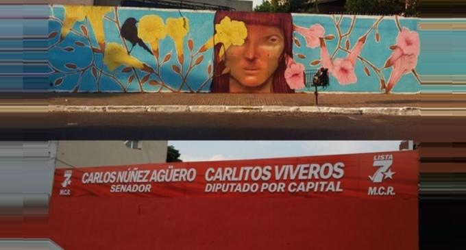 VIDEO: Carlitos Viveros dice que el mural es de su familia
