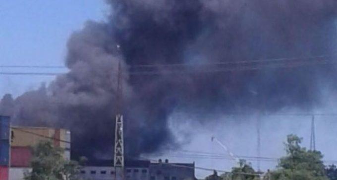 Incendio en depósito del Puerto Caacupemí de Asunción