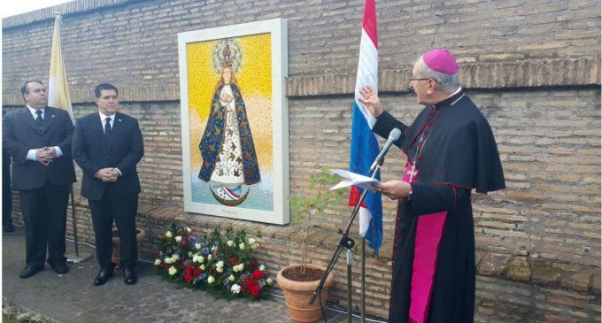 Fue inaugurado el Mosaico de la Virgen de Caacupé en el Vaticano