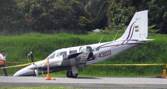 Vídeo: Aterrizaje de terror en Colombia