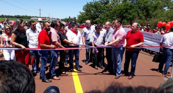 Inauguran el asfaltado del tramo que conecta a tres ciudades en el Alto Paraná