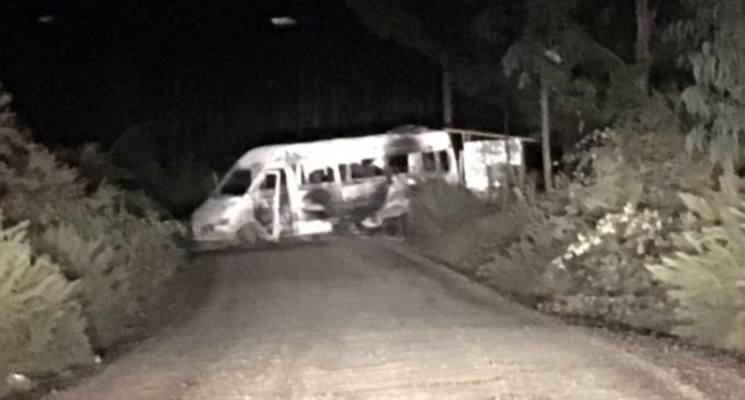 Visita del Papa a Chile: Incendian bus y dejan mensaje contra la Iglesia