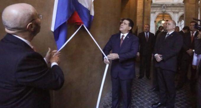 Inauguran placa en homenaje a Mariscal López en Roma