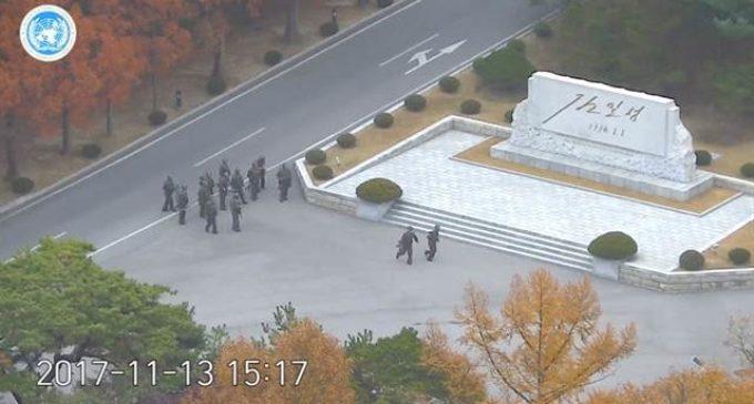 El dramático vídeo de un soldado norcoreano que corre por su vida