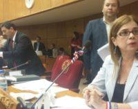 Desirée Masi encabeza lista a Senadores