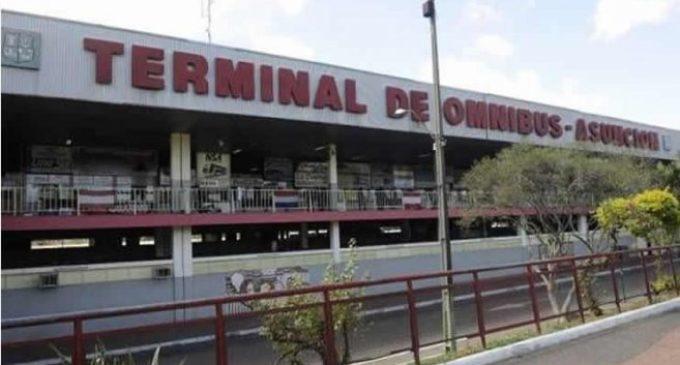 Inicio de incendio en Terminal de Ómnibus