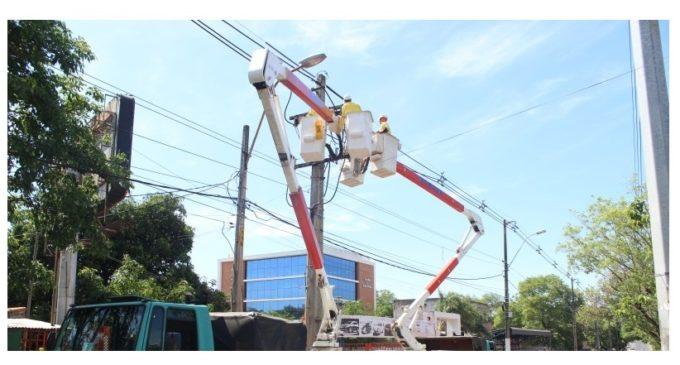 ANDE garantiza reposición de energía en zonas afectadas durante el transcurso de la mañana