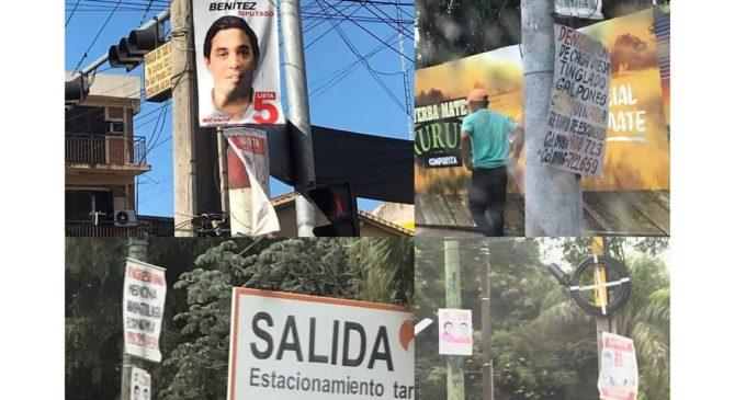 Ferreiro pide a partidos y movimientos que retiren sus propagandas políticas