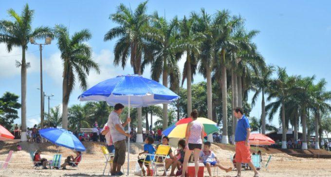 Primera parte de la playa de la Costanera de Hernandarias quedó habilitada
