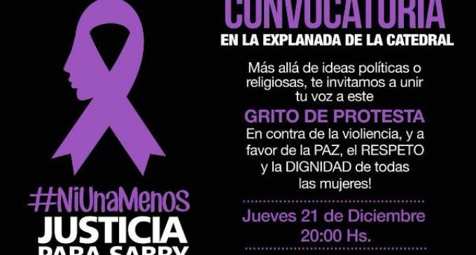 #NiUnaMenos Manifestación frente a la Catedral por casos de feminicidio