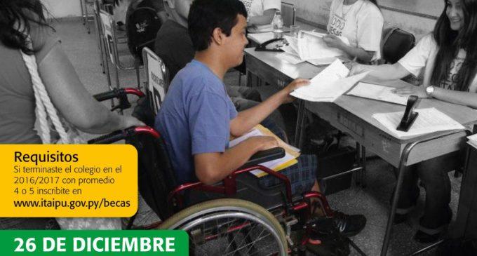 Aclaran que becas de Itaipú son para jóvenes de escasos recursos