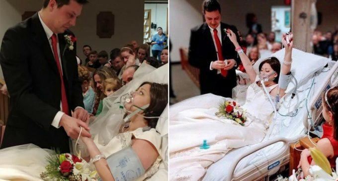 La mujer que da su sí al matrimonio 18 horas antes de fallecer