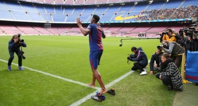 """Yerry Mina quiere """"Conquistar el Camp Nou"""""""