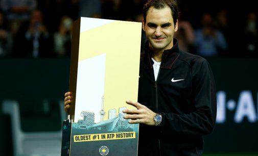 Federer se conviritó en el número uno más veterano de la historia del Tenis