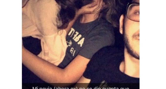 FOTO: Descubrió a su novia besándose con otro, se sacó una selfie y su reacción se hizo viral