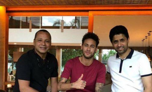 Presidente del PSG visitó a Neymar en Brasil