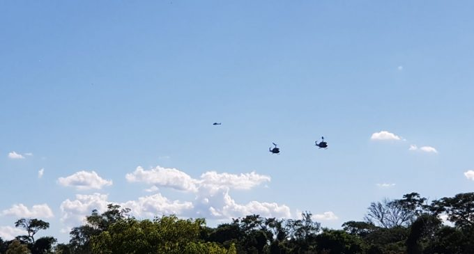 Balacera desde helicópteros de la FTC