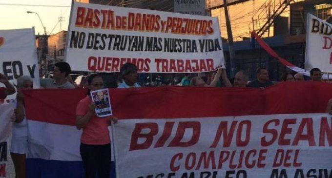 Frentistas del metrobús preparan denuncia internacional contra Banco Interamericano de Desarrollo